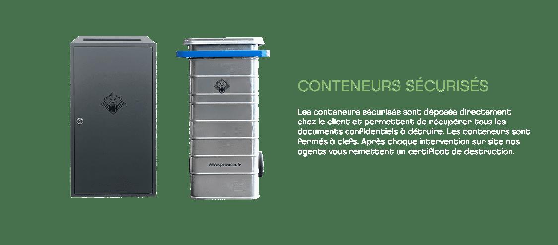 Conteneurs sécurisés - Collecte documents Privacia
