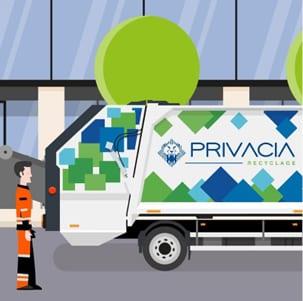 Solutions de recyclage des déchets Privacia