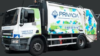 Camion de collecte des déchets Privacia Recyclage