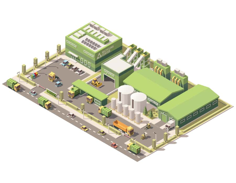 Recyclage des déchets industriel (DIB) - Privacia Recyclage