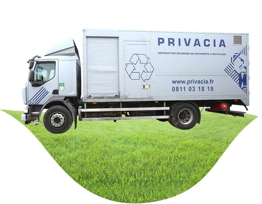 Destruction de documents et recyclage des d chets privacia for Vers gris gazon